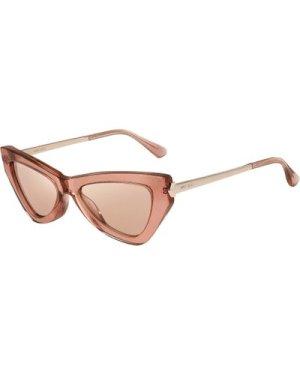Jimmy Choo Donna/S W66/2S Pink Glitter/Pink-Silver Mirror