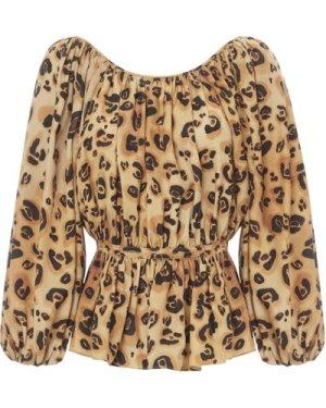 Maud Leopard Blouse