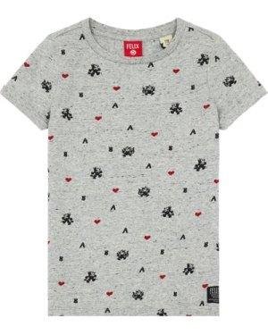 Scotch & Soda x Felix Ams Blauw All Over T-Shirt
