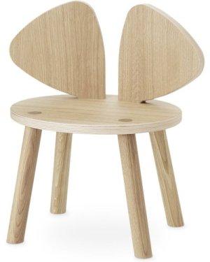 Mouse stool in oak