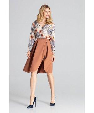 Figl Brown Midi Skirt With Pleats