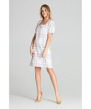Figl Checkered Midi Dress