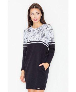 Figl Black Casual Cotton Dress