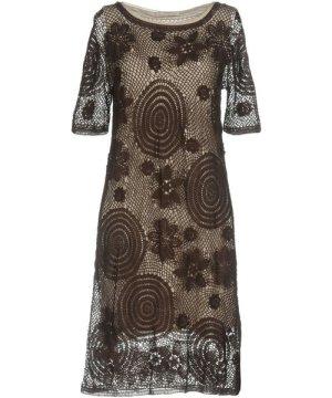 Alpha Massimo Rebecchi DRESSES Dark brown Woman Cotton