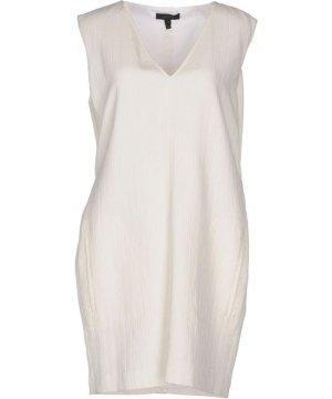 Belstaff Ivory Cotton Short Dress