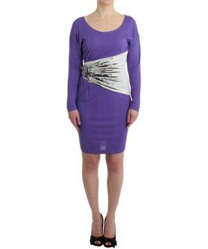 Roberto Cavalli Purple longsleeved dress