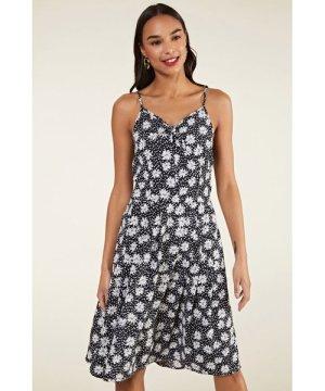 Yumi Daisy Print Tie Front Sundress