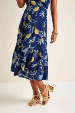 Yumi Pineapple Print Frill Skirt