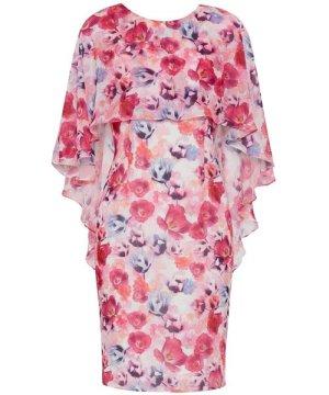 Gina Bacconi Idra Chiffon Dress And Overcape
