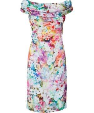 Gina Bacconi Saletta Floral Satin Dress