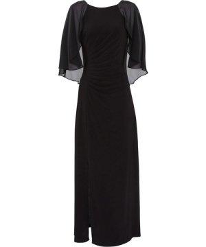 Gina Bacconi Charlotte Cape Maxi Dress