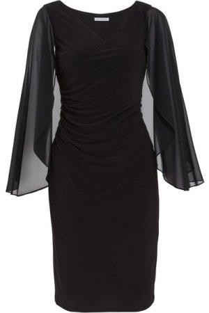 Gina Bacconi Idina Jersey And Chiffon Dress