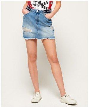 Superdry Denim Micro Mini Tape Skirt