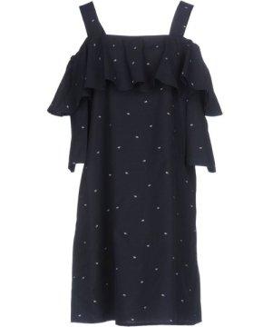 Paul & Joe Dark Blue Cotton Embroidered Dress
