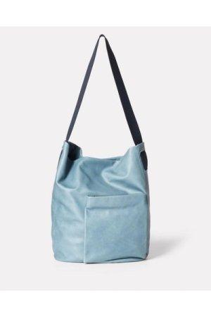 Ally Capellino Bobo Camlet Leather Shoulder Bag in Denim