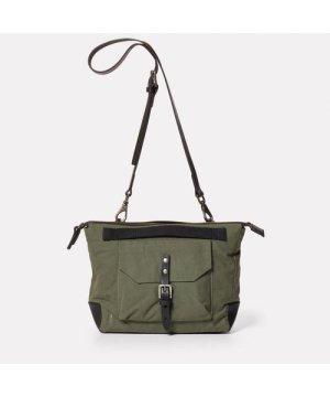 Ally Capellino Francesca Waxed Cotton Crossbody Bag in Olive