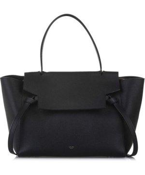 Celine Preowned Vintage Belt Leather Satchel Black