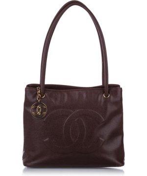 Chanel preowned Vintage CC Caviar Leather Shoulder Bag Brown