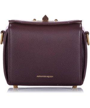 Alexander Mcqueen McQueen Box 16 Leather Crossbody Bag Red