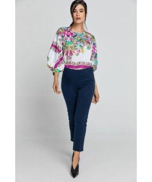 Conquista Slim Fit Blue Pants Fashion