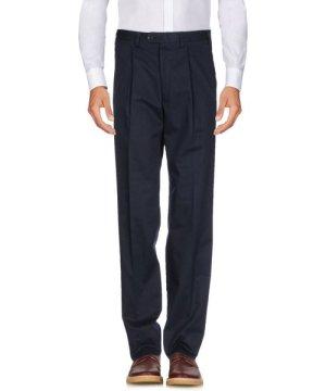 Canali Sportswear Dark Blue Cotton Tailored Straight Leg Trousers