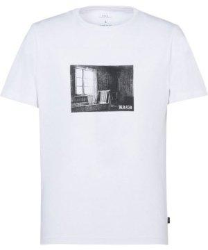 Makia White Print Cotton T-Shirt