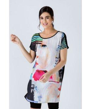 Conquista Sleeveless Loose Fitting Print Dress