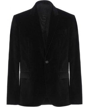 Dondup Black Cotton Velvet Sngle Breasted Jacket