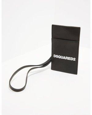 Men's Dsquared2 Logo Neck Pouch Bag Black, Black