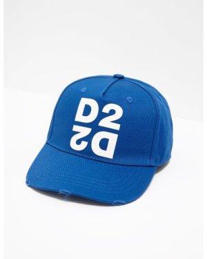 Men's Dsquared2 D2 Cap Blue, Blue