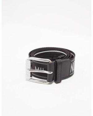 Men's Moschino Canvas Logo Belt Black, Black