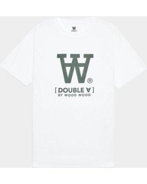 Men's Wood Wood Ace Large Logo T-Shirt White, White