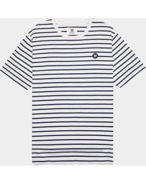 Men's Wood Wood Ace Stripe T-Shirt Multi, White/Black