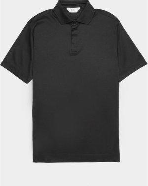 Men's Z Zegna Mercerised Short Sleeve Polo Shirt Black, Black