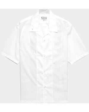 Men's Maison Margiela Stripe Short Sleeve Shirt White, White
