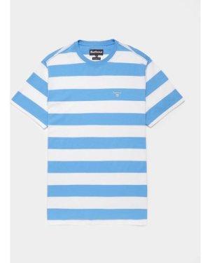 Men's Barbour Beach Stripe Short Sleeve T-Shirt Multi, Blue/White