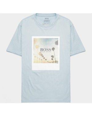 Men's BOSS Summer Box Short Sleeve T-Shirt Blue, Sky