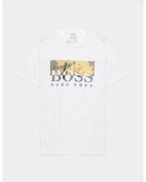 Men's BOSS Summer Palm Short Sleeve T-Shirt White, White