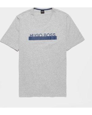 Men's BOSS Identity Short Sleeve T-Shirt Multi, Grey/Navy