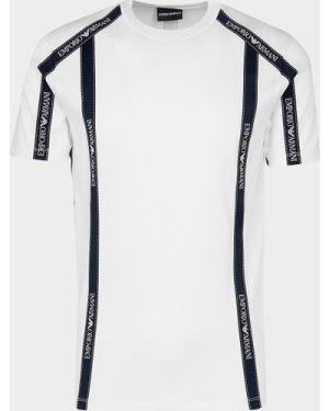 Men's Emporio Armani Tape Short Sleeve T-Shirt White, White