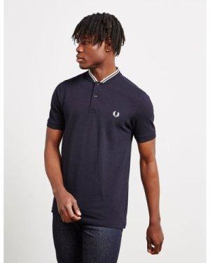Men's Fred Perry Bomber Collar Polo Shirt Men's Multi, Navy/White