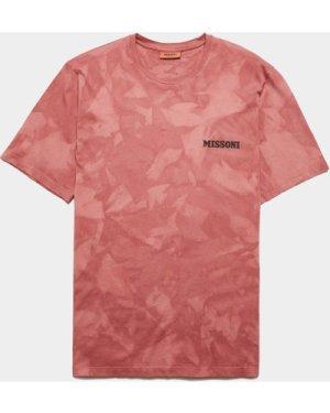 Men's Missoni Tie Dye Short Sleeve T-Shirt Red, Red