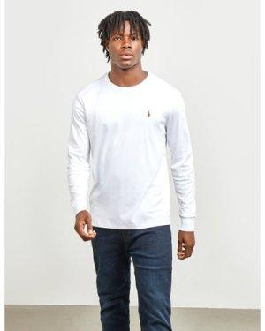 Men's Polo Ralph Lauren Pima Long Sleeve T-Shirt White, White