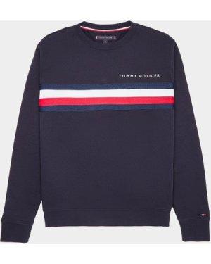 Men's Tommy Hilfiger Tape Chest Sweatshirt Blue, Navy/Navy
