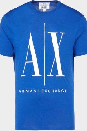 Men's Armani Exchange Icon Logo Short Sleeve T-Shirt Blue, Blue