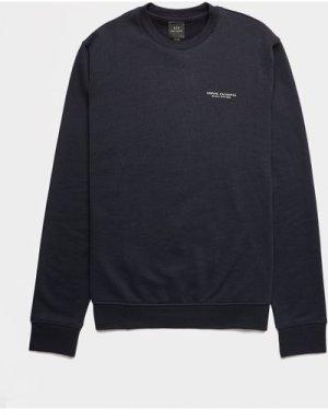 Men's Armani Exchange Basic Crew Sweatshirt Blue, Navy