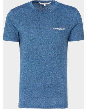 Men's Calvin Klein Jeans Institutional Short Sleeve Marl T-Shirt Blue, Blue/Blue