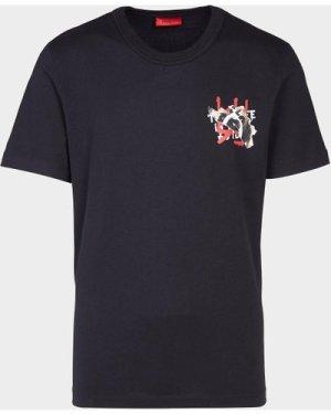 Men's HUGO Dostok Bear Short Sleeve T-Shirt Black, Black/Black