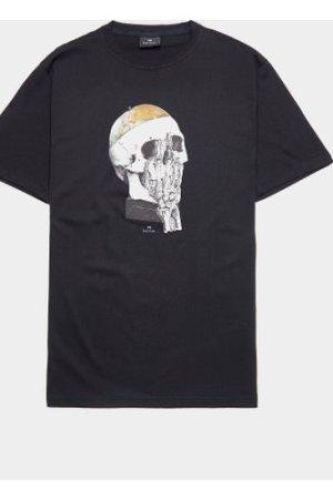 Men's PS Paul Smith Globe Skull Short Sleeve T-Shirt Black, Black