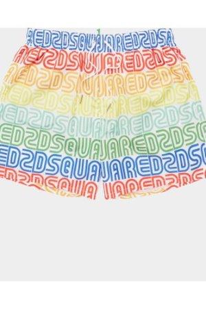 Men's Dsquared2 Rainbow Swim Shorts White, White